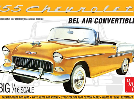 AMT 1/16 1955 Chevy Bel Air Convertible (AMT1134)