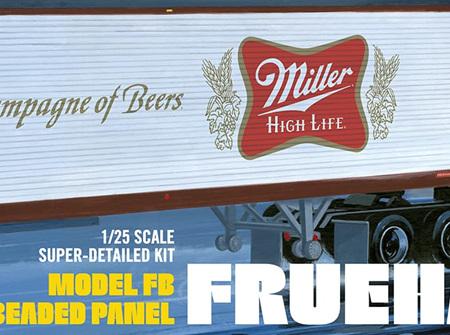 AMT 1/24 Fruehauf 40' Semi Trailer Miller High Life (AMT1234)