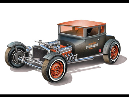 "AMT 1/25 1925 Ford T ""Chopped"" (AMT1167)"