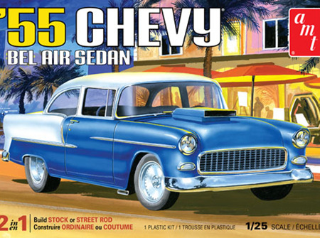 AMT 1/25 1955 Chevy Bel Air Sedan (AMT1119)