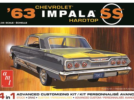 AMT 1/25 1963 Chevy Impala SS Hardtop 4n1 (AMT1149)