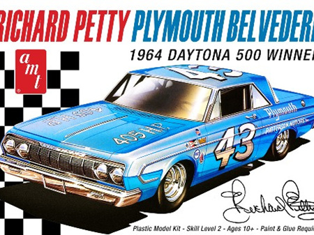 AMT 1/25 1964 Plymouth Belvedere Daytona 500 Richard Petty Stock Car