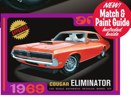 AMT 1/25 1969 Cougar Eliminator Car (White)