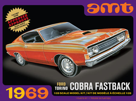 AMT 1/25 1969 Ford Torino Cobra Fastback (AMT1217)