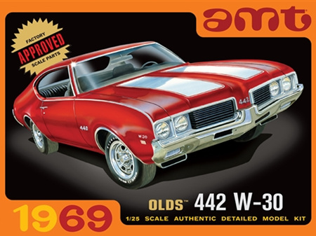 AMT 1/25 1969 Olds W-30 442