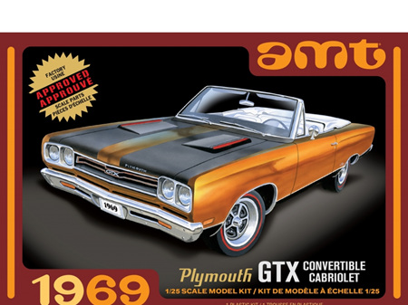 AMT 1/25 1969 Plymouth GTX Convertible