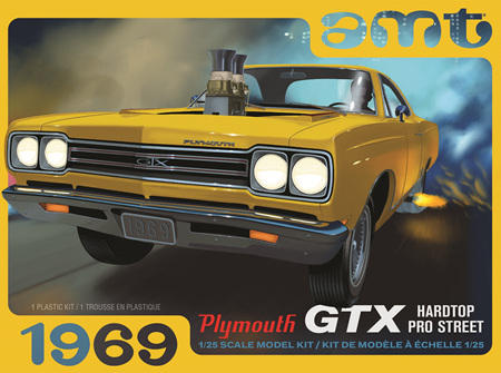 AMT 1/25 1969 Plymouth GTX Hardtop Pro-Street (AMT1180)