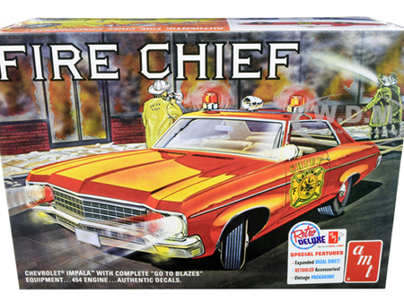 AMT 1/25 1970 Chevy Impala Fire Chief (AMT1162)
