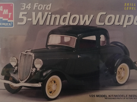 AMT 1/25 34 Ford 5 Window Coupe (AMT8214)