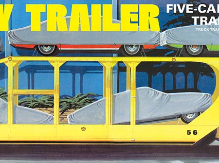 AMT 1/25 5 Car Haulaway Trailer (AMT1193)