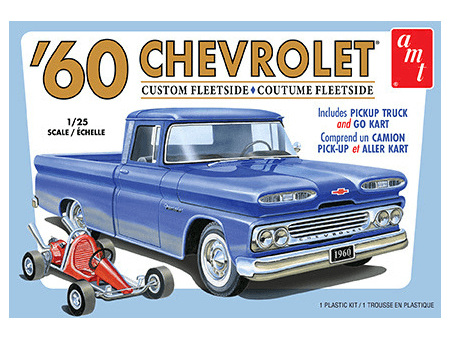 AMT 1/25 '60 Chevy Custom Fleetside Pickup w/Go Cart