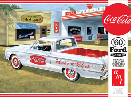 AMT 1/25 60 Ford Ranchero Coca-Cola, with Coke Chest (AMT1189)