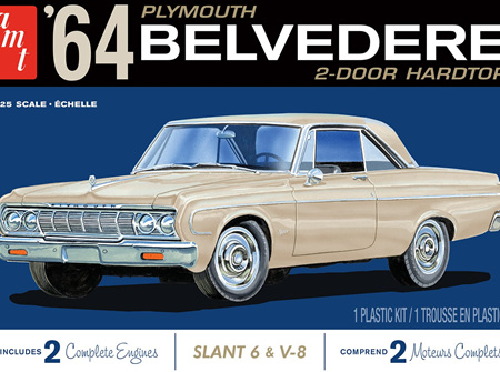 AMT 1/25 64 Plymouth Belvedere (w/ Slant 6 Engine) (AMT1188)