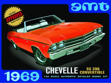 AMT 1/25 69 Chevelle Convertible