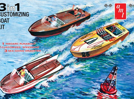 AMT 1/25 Customizing Boat (3-in-1) (AMT1056)