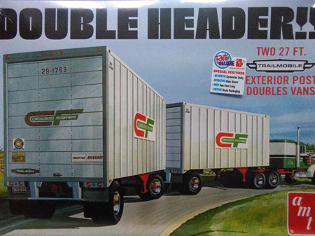 AMT 1/25 Double Header Tandem Trailers