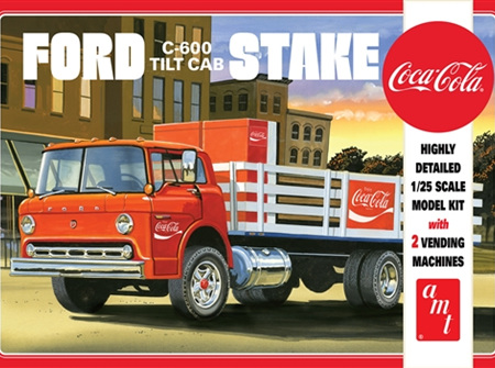 AMT 1/25 Ford C-600 Tilt Cab Stake Bed w/ Vending Machines Coca-Cola (AMT1147)