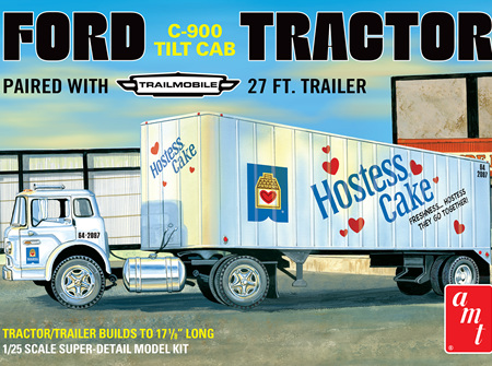 AMT 1/25 Ford C-900 Tractor & Trailmobile 27ft Trailer (AMT1221)