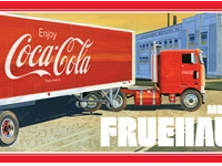 AMT 1/25 FRUEHAUF BEADED VAN SEMI TRAILER (COCA-COLA)