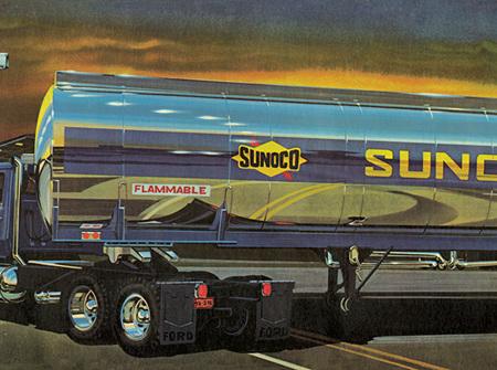 AMT 1/25 Fruehauf Plated Tanker - Sunoco (AMT1239)