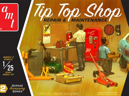 AMT 1/25 Tip Top Shop Garage Accessory Set