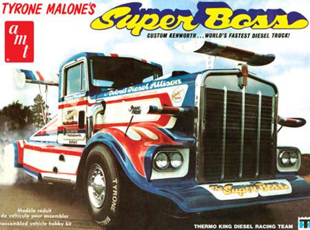 AMT 1/25 Tyrone Malone Kenworth Super Boss Drag Truck