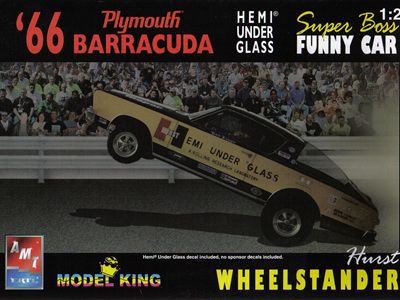 AMT/Model King 1/25 66 Plymouth Barracuda Hemi Under Glass FC