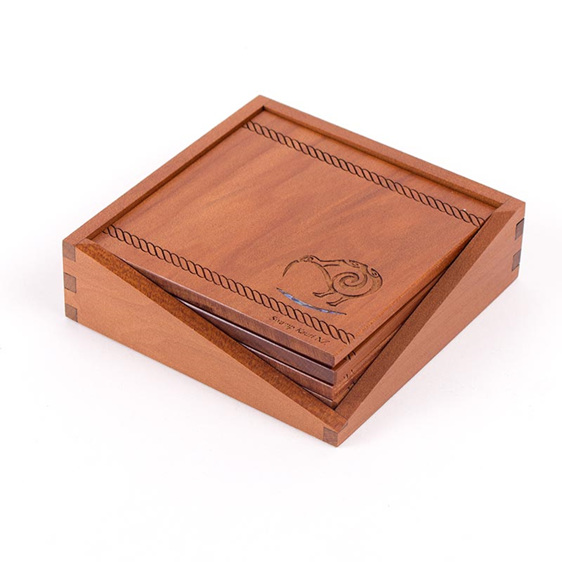 ancient kauri coasters in box