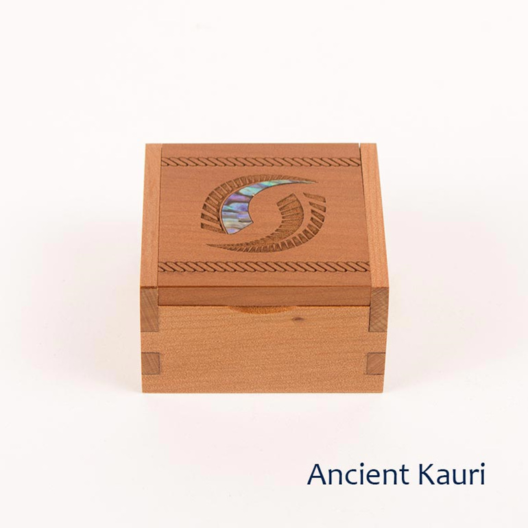 ancient kauri ring box - fern