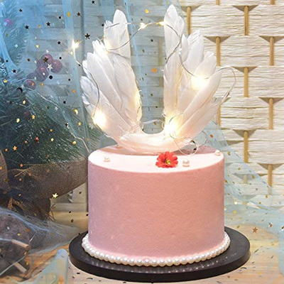 Angel Wing Cake Topper Decoration With LED Light