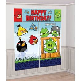 Angry Bird Happy Birthday Wall Decorating Kit