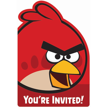 Angry Birds - invites x 8