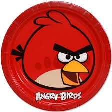 Angry Birds plate - Large - 8 pack