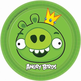 Angry Birds Plates small  - pack of 8