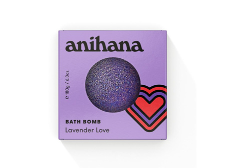 anihana Bath Bomb Lavender Love 180g
