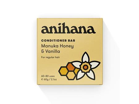 anihana Conditioner Bar Manuka Honey & Vanilla 60g