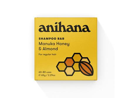 anihana Shampoo Bar Manuka Honey & Almond 65g