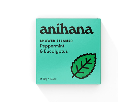 anihana Shower Steamer Peppermint & Eucalyptus 50g