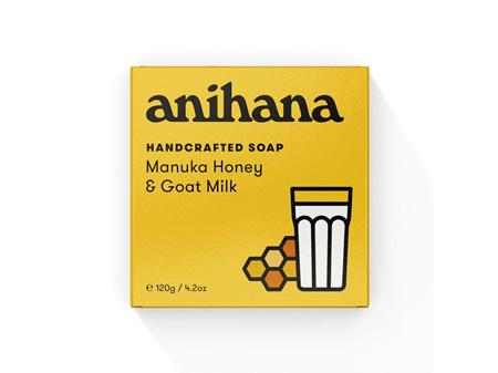 anihana Soap Manuka Honey & Goat Milk 120g