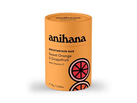 anihana Solid Moisturiser Orange & Grapefruit 75g