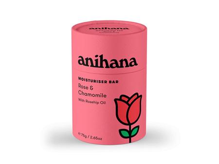 anihana Solid Moisturiser Rose & Chamomile 75g