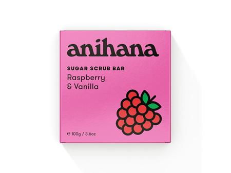 anihana Sugar Scrub Raspberry & Vanilla 100g