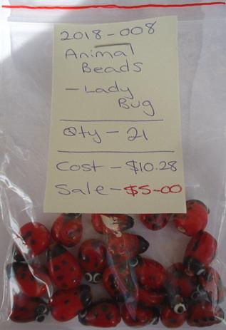 Animal Beads - Lady Bug