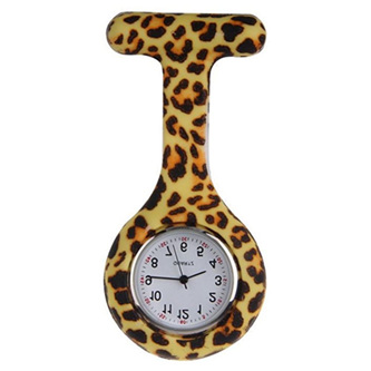 Animal Print Nurse Watch