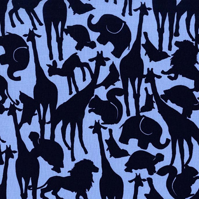 Animal Silhouettes - Navy