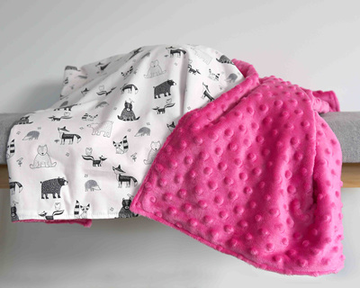 Animal Tribe with Pink  Blanket