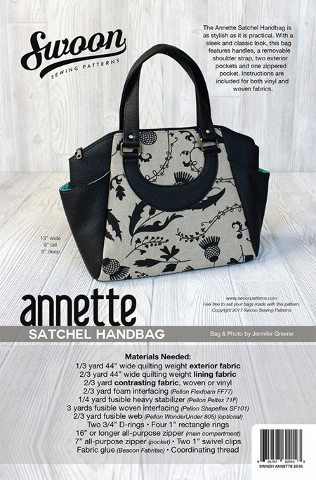 Annette Satchel Bag from Swoon Sewing Patterns