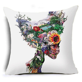 ANOTHER WORLD SKULL CUSHION COVER