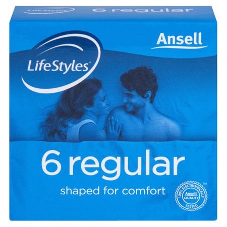 Ansell Lifestyle Regular 6pk