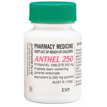 ANTHEL 250MG TAB 6